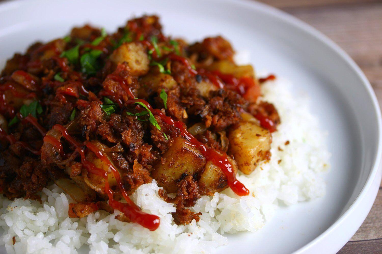 Vegan Filipino Corned Beef Hash Sarah S Vegan Kitchen