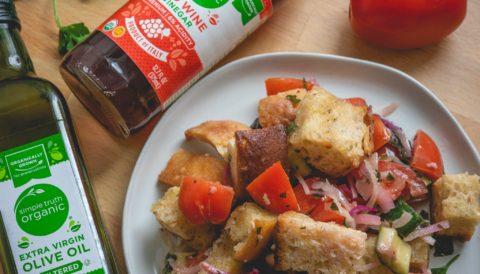 Panzanella Italian Bread Salad Sarah S Vegan Kitchen